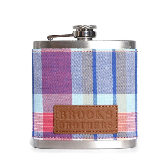 Brooks Brothers Other - Never Used Plaid Stainless Steel 6oz Flask